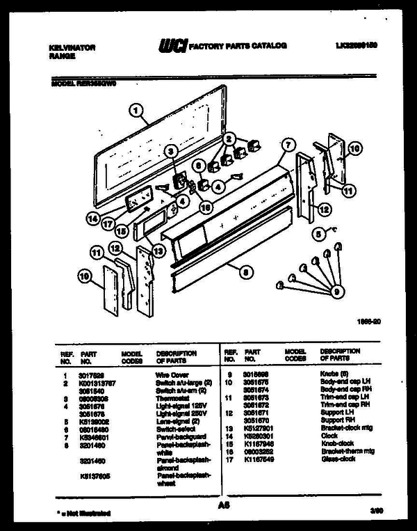 kelvinator rer355gt0 electric range  lk32089150  parts and