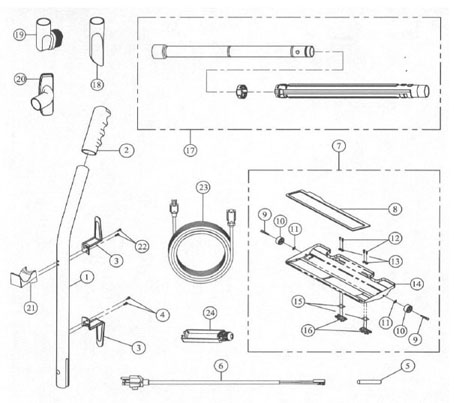 Koblenz U-800 Upright Vacuum Parts List and Schematic