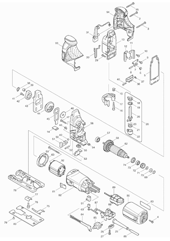 appealing makita hr2475 switch wiring diagram gallery