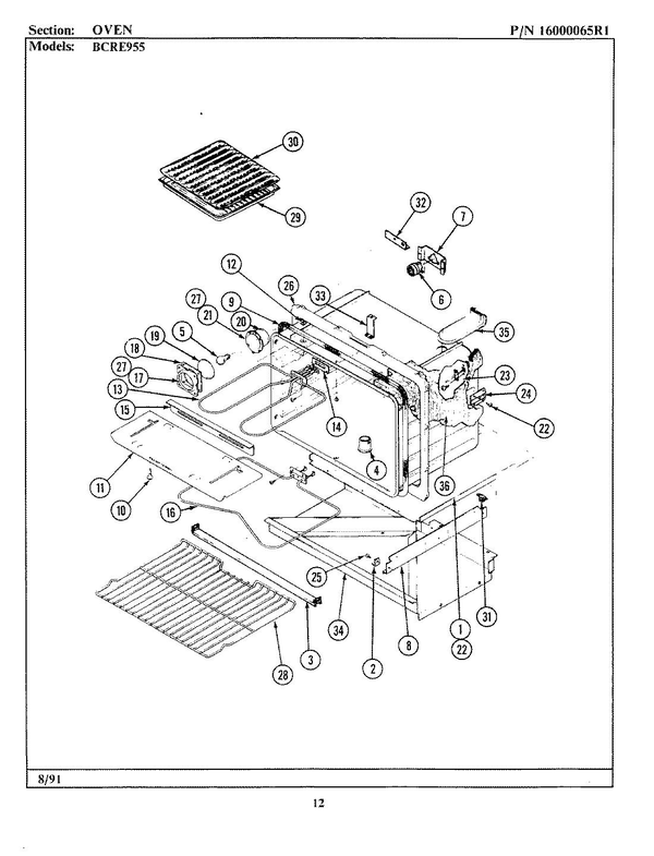 Maytag Bcre955 Electric Range Parts And Accessories At Partswarehouse
