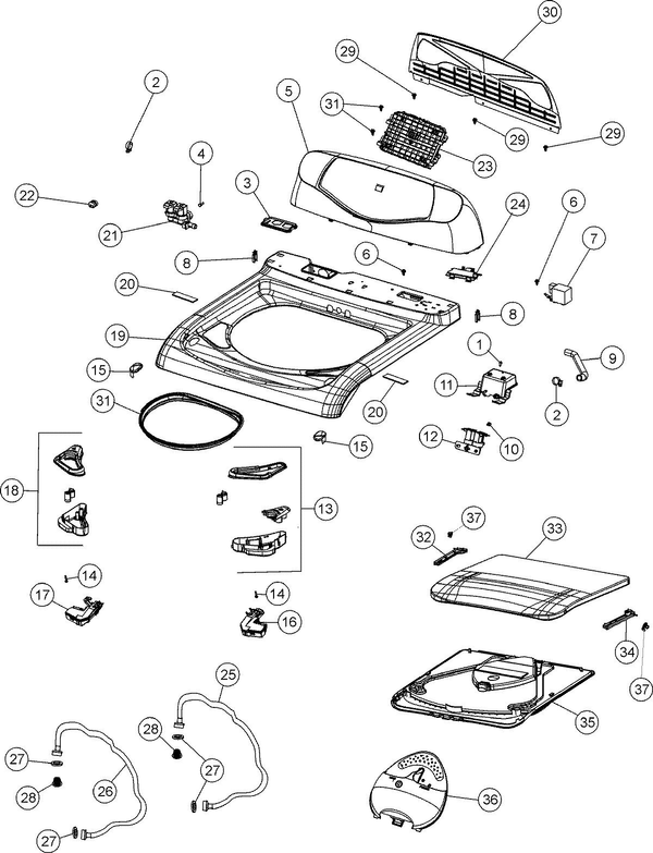 Maytag Fav6800aww Washer Parts And Accessories At Partswarehouse