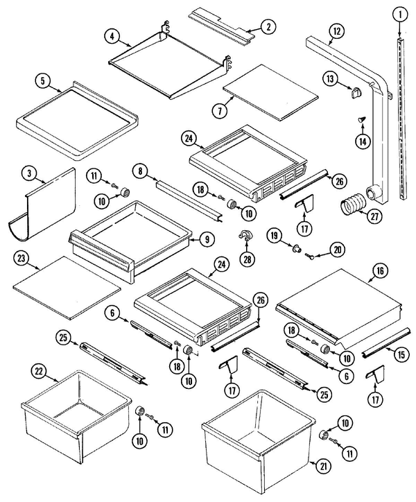 Maytag K3962x0 Side By Side Refrigerator Parts And Accessories At