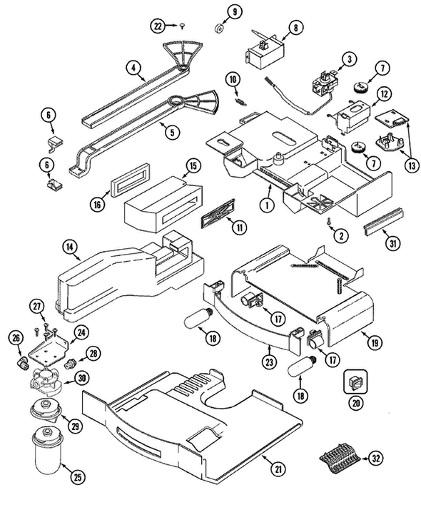 Maytag Msd2756ges Side By Side Refrigerator Parts And Accessories At
