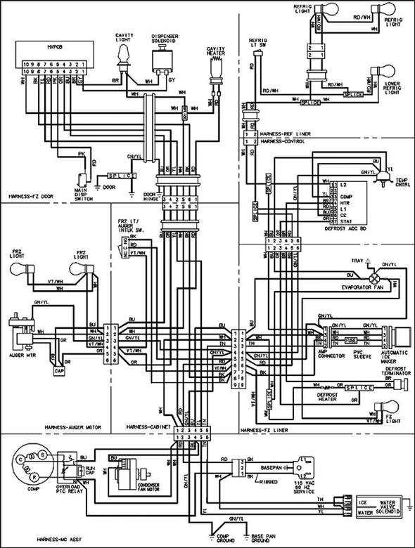 Defrost Timer Wire Diagram