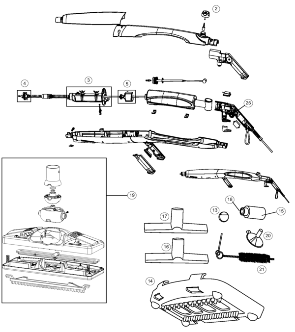 oreck steam100 steam-it parts and accessories- partswarehouse oreck handle wiring diagram for #12