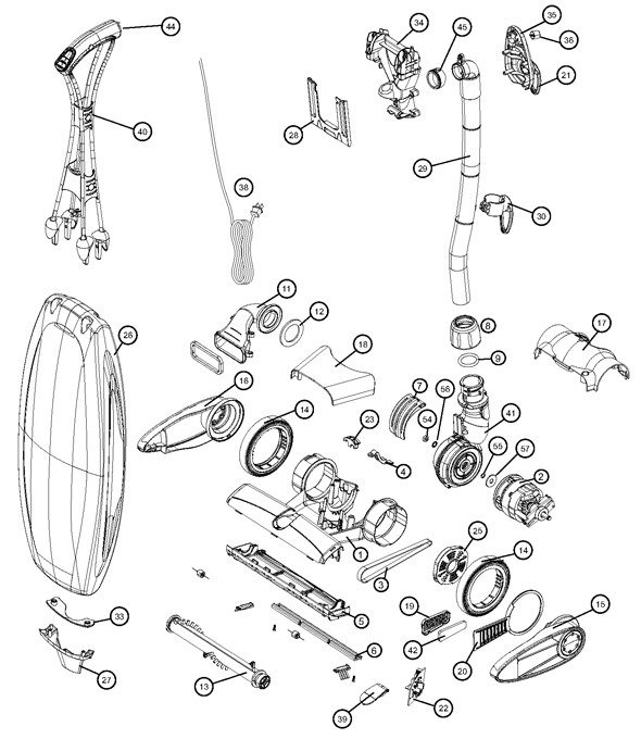 sanitaire vacuum parts diagram