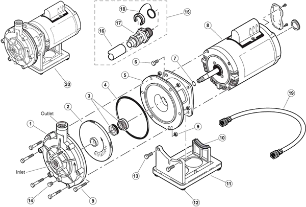 Polaris Booster Pump Parts And Accessories Partswarehouse