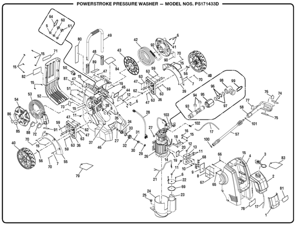 Powerstroke Ps171433d Pressure Washer Parts And Accessories