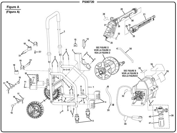 Powerstroke Ps80720 Electric Pressure Washer Parts And