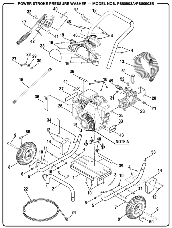Powerstroke Ps80903b Pressure Washer Parts And Accessories