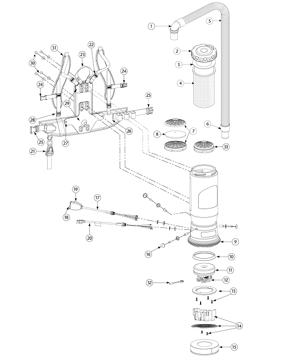 Motor Compression with Connection Screws ProTeam Ring