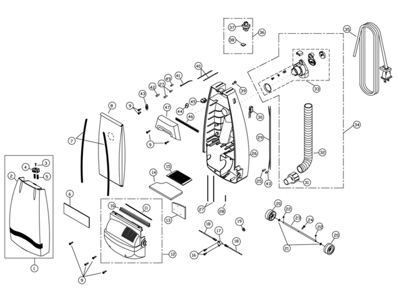 Riccar R800 Parts Amp Vacuum Repair Diagrams