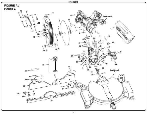 Ridgid R41221 12 Miter Saw Parts And Accessories Partswarehouse