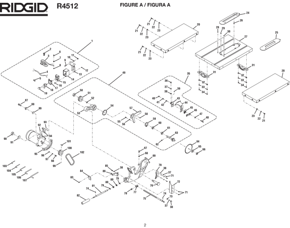 Ridgid table saw wiring diagram wiring diagram ridgid r4512 10 table saw parts and accessories partswarehouse rh partswarehouse com ridgid table saw parts list ridgid table saw switch wiring diagram keyboard keysfo Choice Image