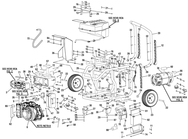 Yamaha mz360 Parts list ohv Engine manual