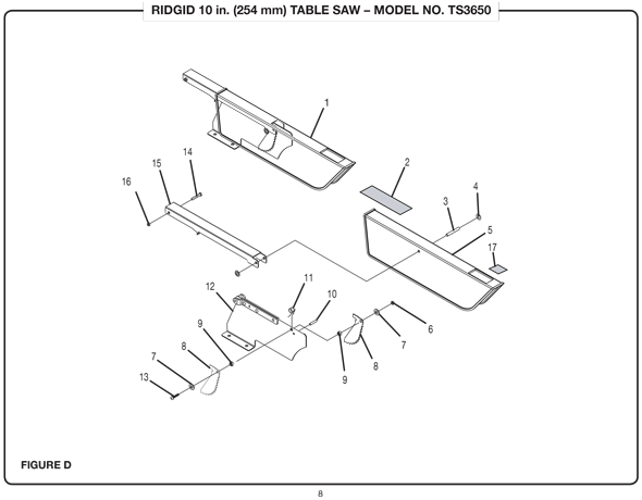 Ridgid ts3650 10 254mm table saw parts and accessories ridgid ts3650 greentooth Image collections