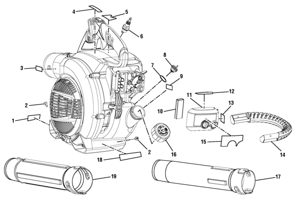 ryobi ry09466a blower parts and accessories