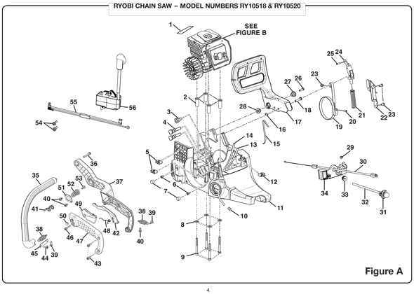 31 Ryobi Chainsaw Parts Diagram