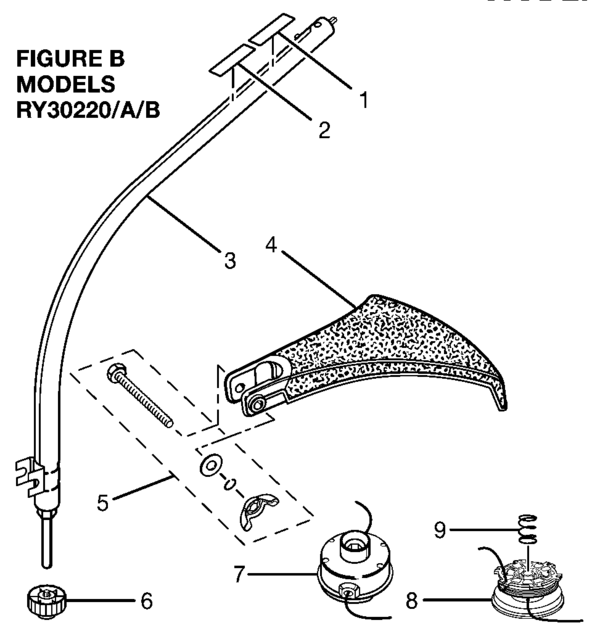 ryobi ry30220 30cc string trimmer parts and accessories