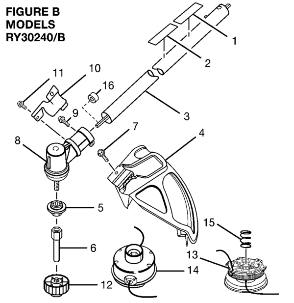 ryobi ry30240 30cc string trimmer parts and accessories partswarehouse rh partswarehouse com ryobi 40 volt trimmer parts diagram ryobi string trimmer parts diagram
