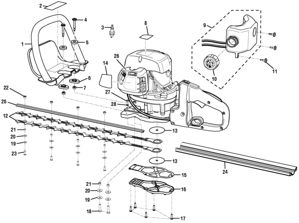 ryobi ry39506 hedge trimmer parts and accessories
