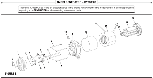 ryobi ry903600 generator parts and accessories partswarehouse30 Amp Cord Wiring Including Ryobi Weed Eater Parts Diagram #7