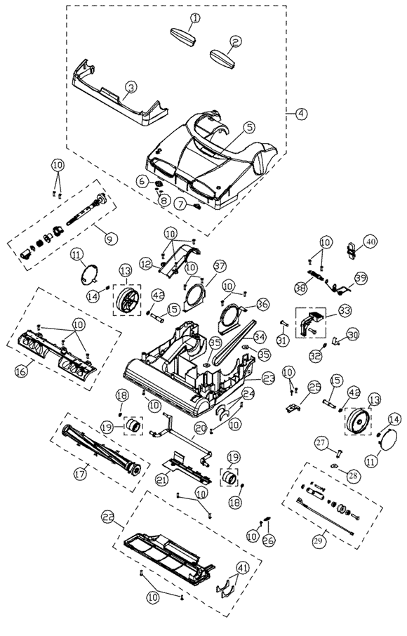 Simplicity X9 7 Synergy Vacuum Parts