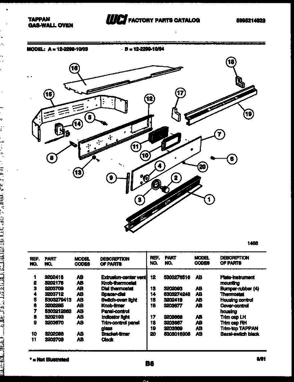 tappan gas oven wiring diagram for wall tappan 12 2299 00 03 gas wall oven 5995214029 parts and  tappan 12 2299 00 03 gas wall oven