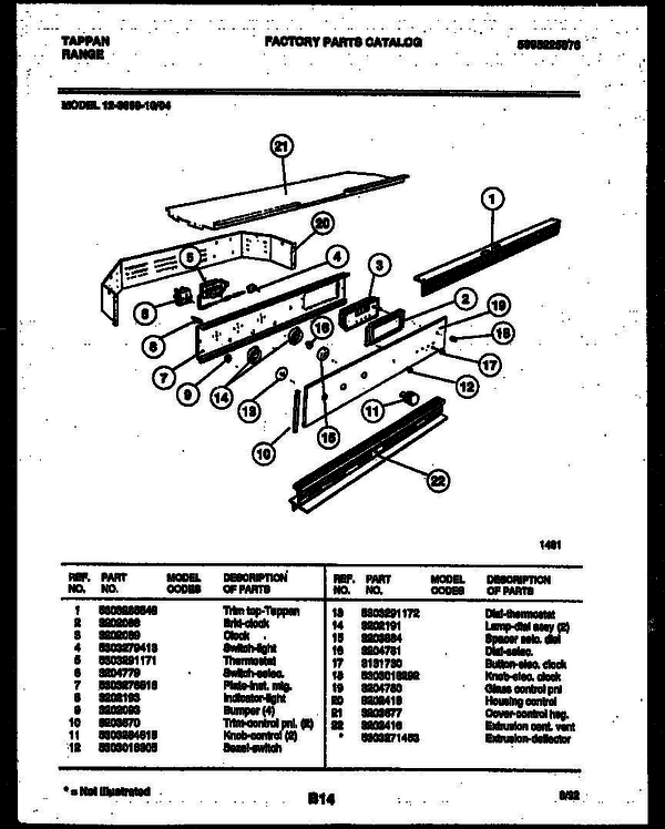 tappan gas oven wiring diagram for wall tappan 12 3699 00 04 gas wall oven 5995225876 parts and  tappan 12 3699 00 04 gas wall oven