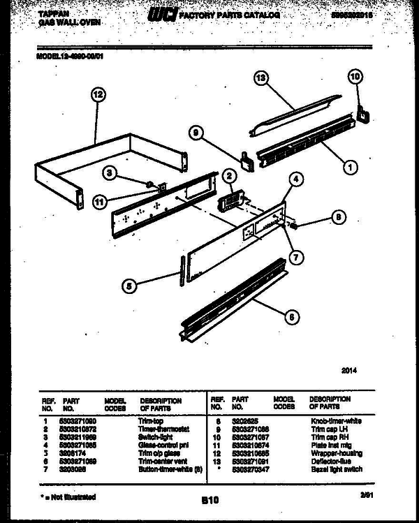 tappan gas oven wiring diagram for wall tappan 12 4990 00 01 gas wall oven 5995202016 parts and  tappan 12 4990 00 01 gas wall oven
