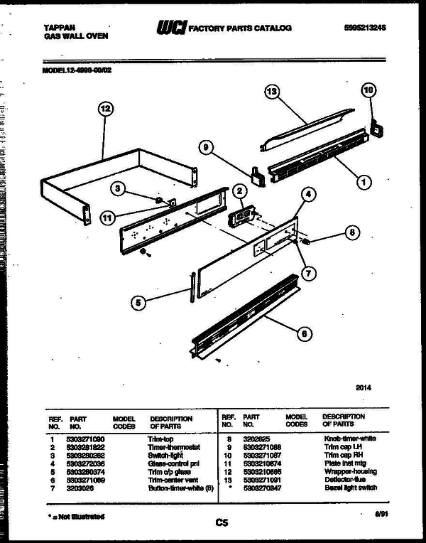 tappan gas oven wiring diagram for wall tappan 12 4990 00 02 gas wall oven 5995213245 parts and  tappan 12 4990 00 02 gas wall oven
