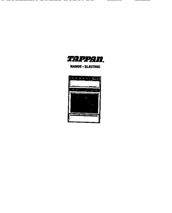 Tappan 31 4968 00 04 Electric Range Lt32089580 Parts And
