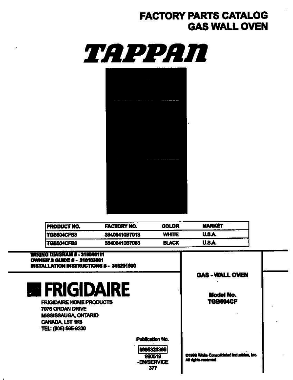tappan gas oven wiring diagram for wall tappan tgb504cfb3 gas wall oven p5995323366 parts and  tappan tgb504cfb3 gas wall oven