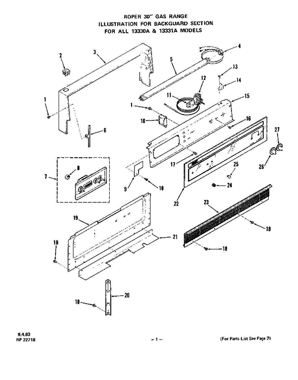 whirlpool 1333 0a gas range parts and accessories at partswarehouse rh partswarehouse com