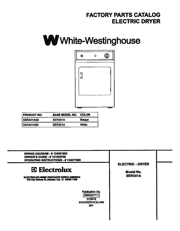 White-Westinghouse SER341AS0
