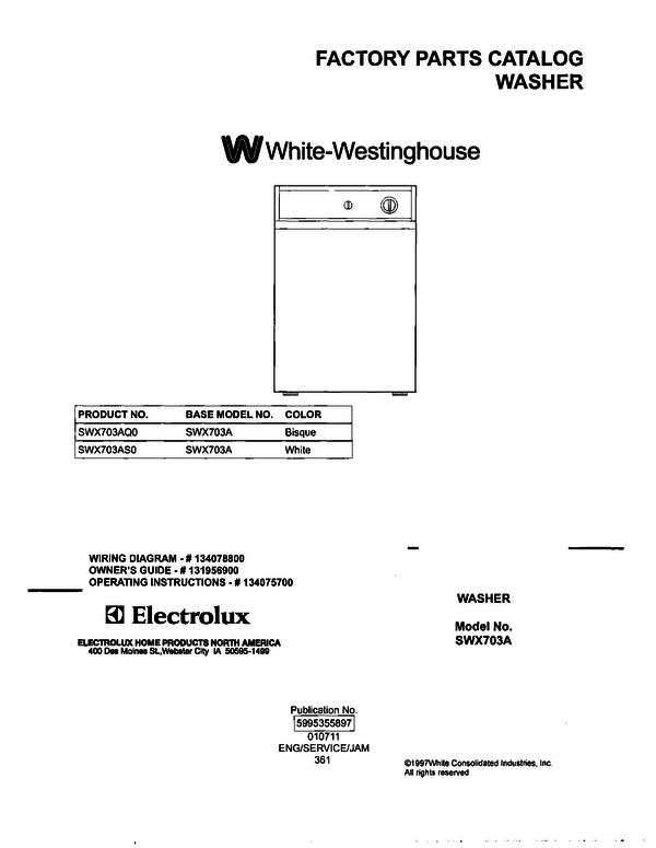 White-Westinghouse SWX703AS0