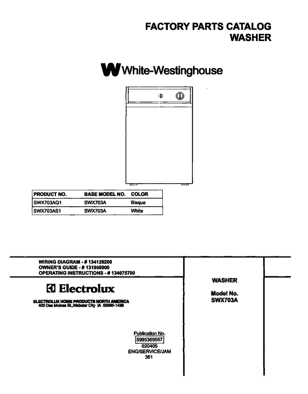White-Westinghouse SWX703AS1