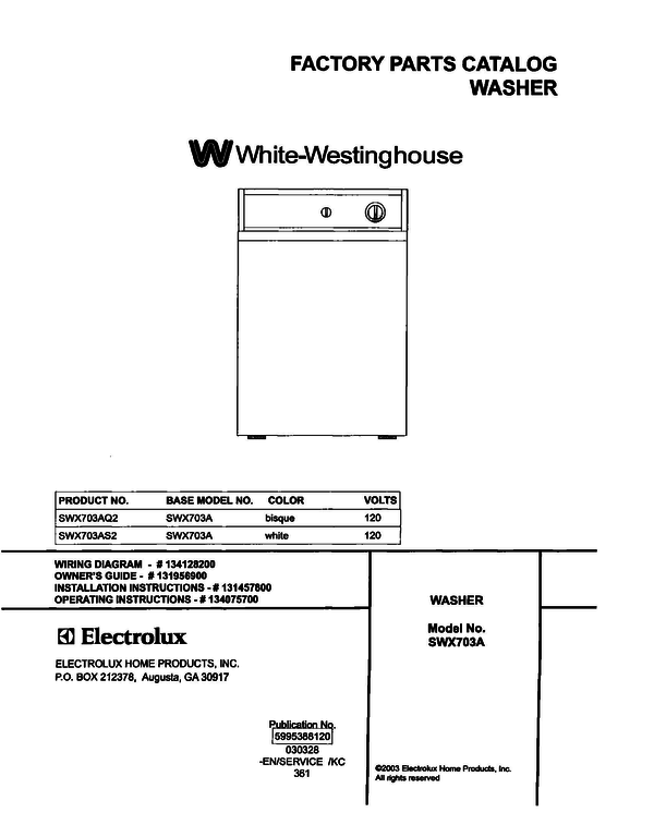 White-Westinghouse SWX703AS2