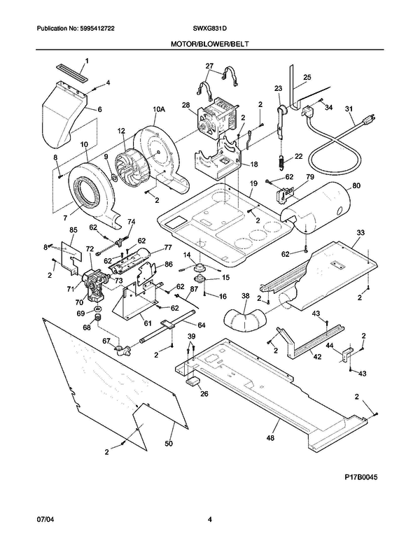 White Westinghouse Swxg831ds0 Laundry Center Parts And Accessories