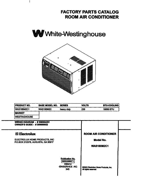 White-Westinghouse WAS180M2C1