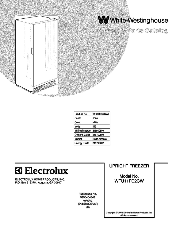 WFU11FC2CW0 1 westinghouse upright freezer wiring diagram efcaviation com chest freezer wiring diagram at virtualis.co