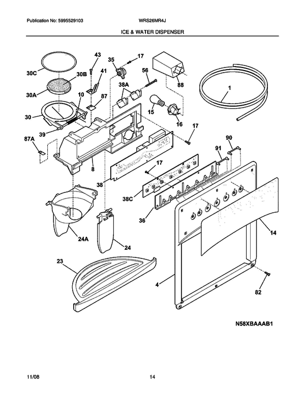 White Westinghouse Wrs26mr4jb4 Refrigerator Parts And Accessories At