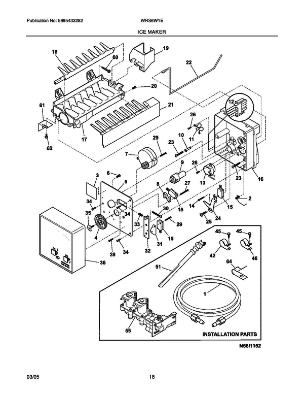 White Westinghouse Wrs6w1ew0 Refrigerator Parts And Accessories At