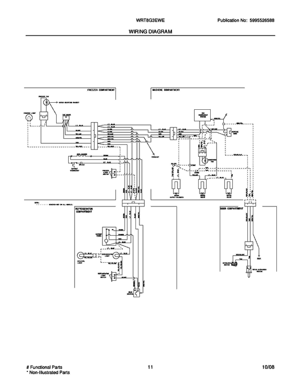 Westinghouse Refrigerator Wiring Diagram : Refrigerator wiring diagram u white westinghouse