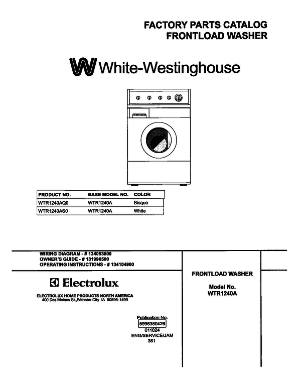 White-Westinghouse WTR1240AS0