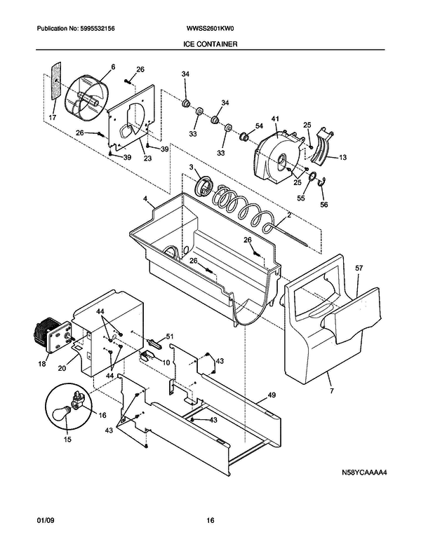 White Westinghouse Wwss2601kw0 Refrigerator Parts And Accessories At