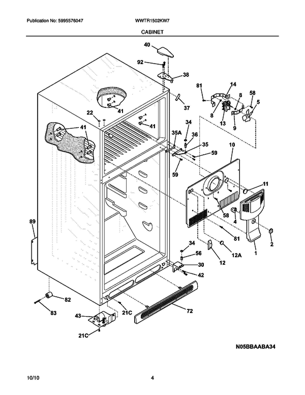 White Westinghouse Wwtr1502kw7 Refrigerator Parts And Accessories At
