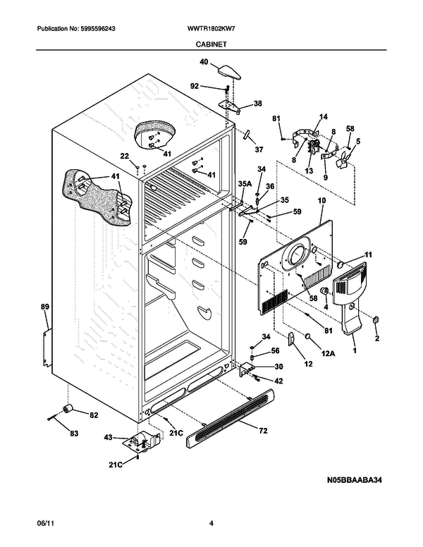 White Westinghouse Wwtr1802kw7 Refrigerator Parts And Accessories At