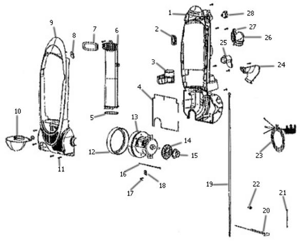 3041d eureka 3041 enviro vacvacuum repair parts & tools eureka vacuum wiring diagram at aneh.co
