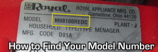 How to find your dirtdevil model number. It's located on the back or bottom of your vacuum or steam cleaner.